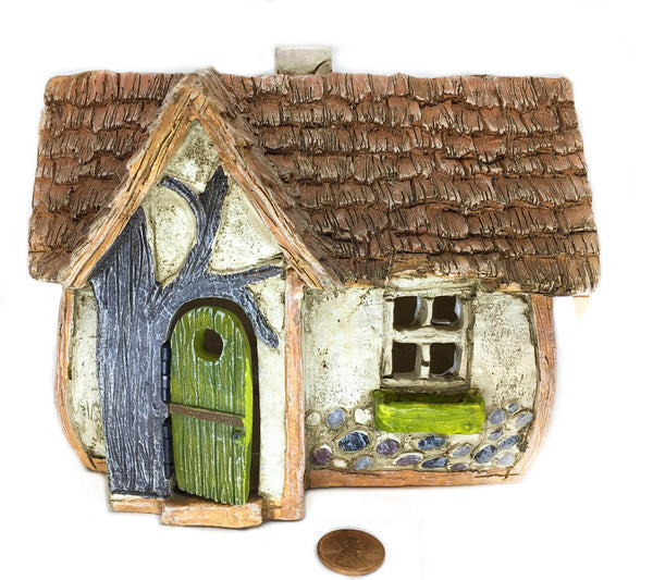 Miniature Country House, Poppy's Place Fairy Garden Cottage,  Woodland Cottage, Birthday/Holiday Gift