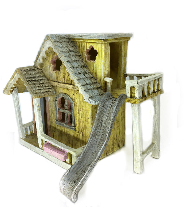 Honeysuckle Cottage , Fairy Garden House with Slide, Country Fun House, Fairy Garden House, Birthday/Holiday Gift