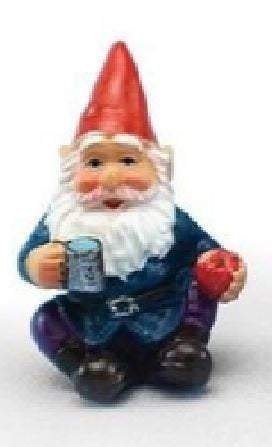 "Miniature Gnomes, Set of 4 Fairy Garden Gnomes,  Choice of 1.75"" Gnome Set or  1.25"" Gnome Set"