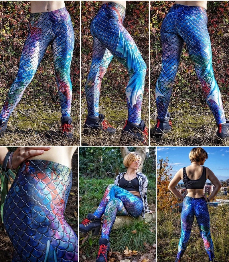 Womens Mermaid Leggings