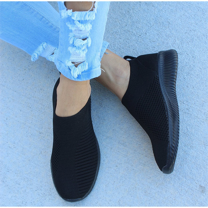 Womens Slip On Mesh Sneakers