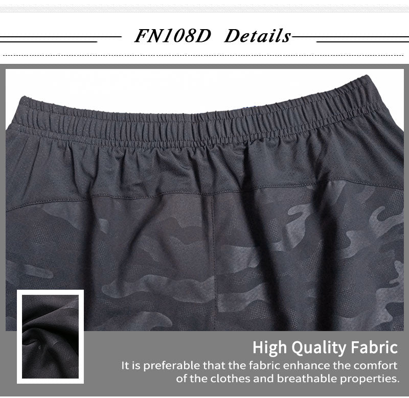 Mens Solid and Camo Gym Shorts