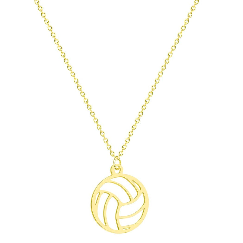 Unisex Volleyball Pendant Necklace