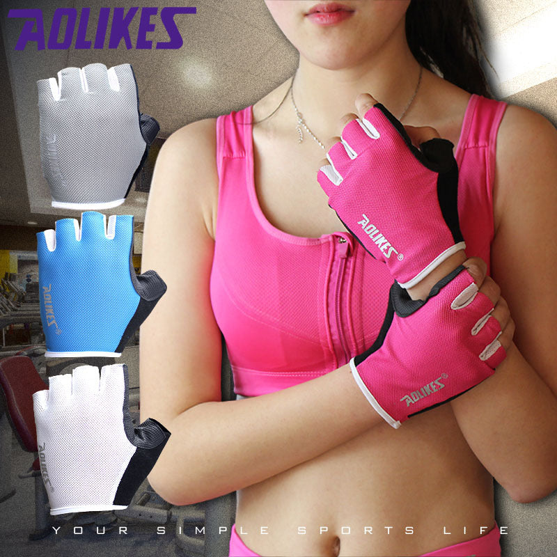 1 Pair Women / Men Anti-skid Breathable Gym Gloves