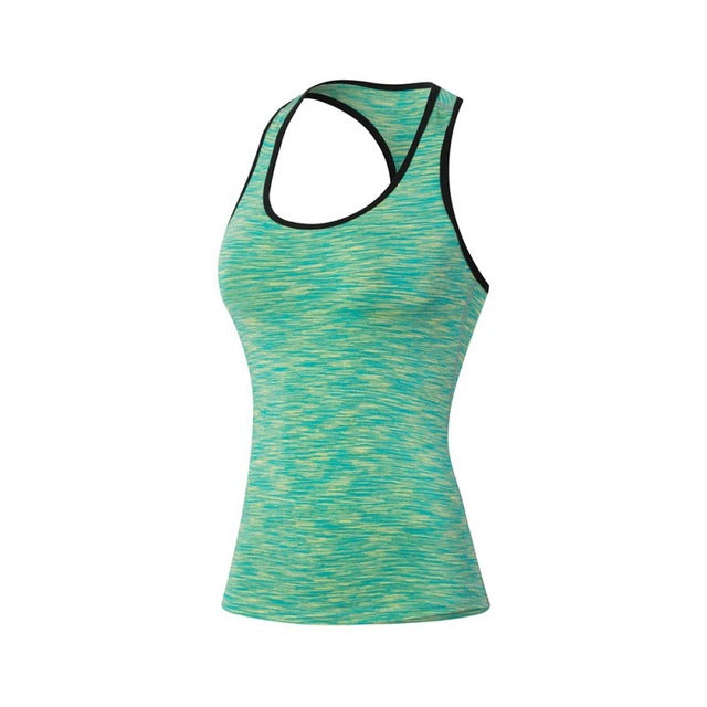 Women Fitness Sports Yoga Tank Quick Dry - Camo Stretch T Shirt Tops