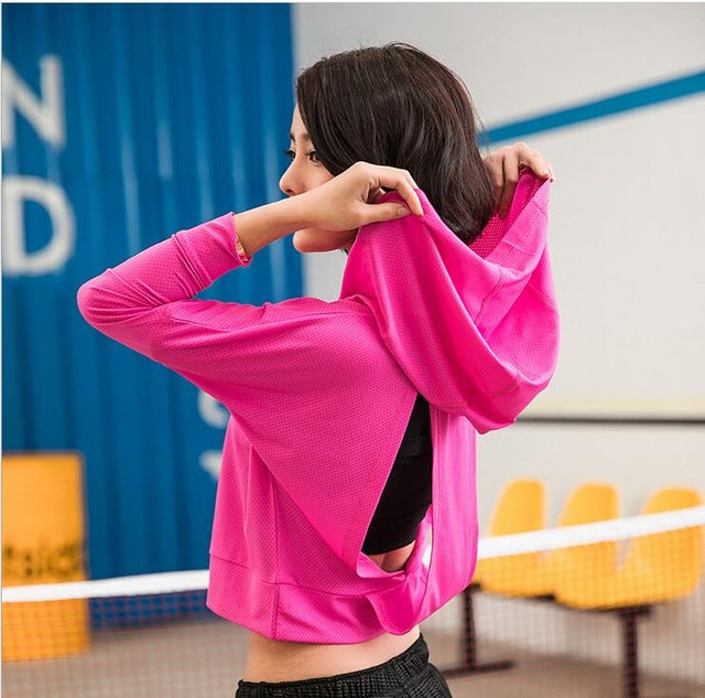 Women Sports Shirts - Quick Dry Workout Blouses.