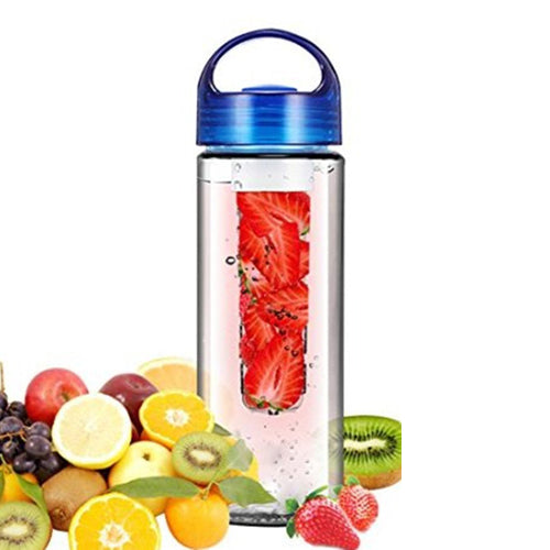 700ML BPA Free Plastic Fruit Infuser Water Bottle With Filter