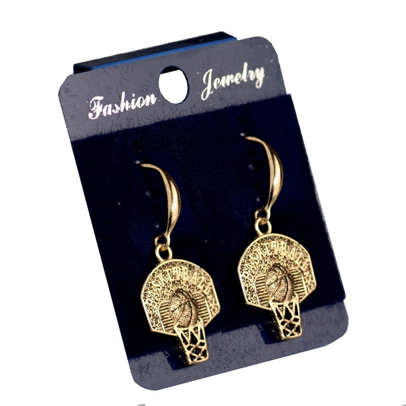 Basketball Drop Earrings