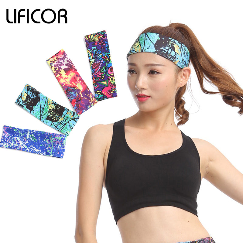 Sports Elastic Headbands - Yoga Fitness Women Stretch Head Wrap