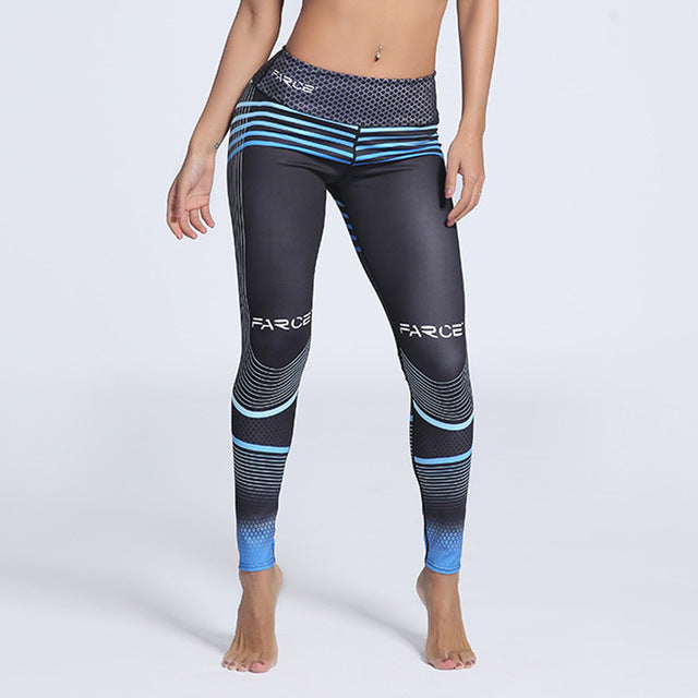 Plus Size Fitness Clothing - Women Elastic Sporting Leggings.