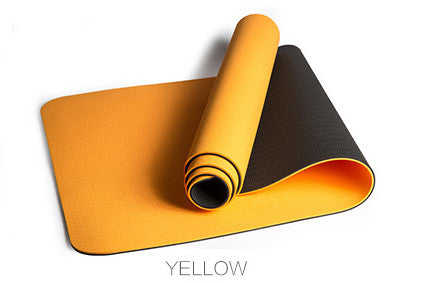 JUFIT 1830*610*6MM TPE Yoga Mat Double Sided Color Exercise Sports Mats