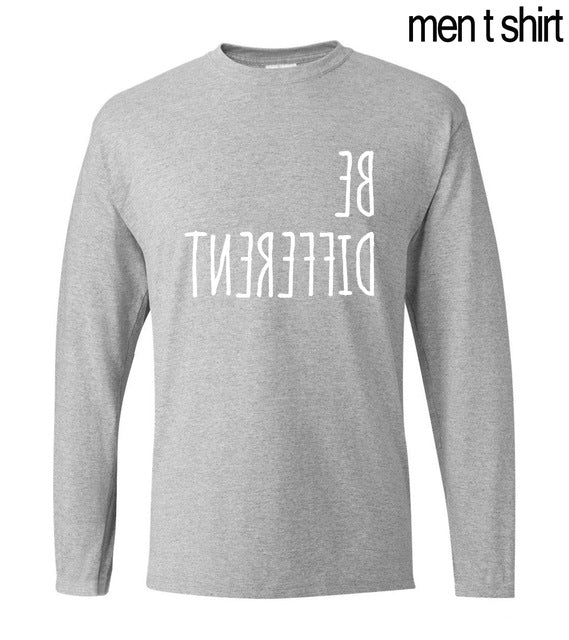 'Be Different' Long Sleeved Cotton T-Shirt