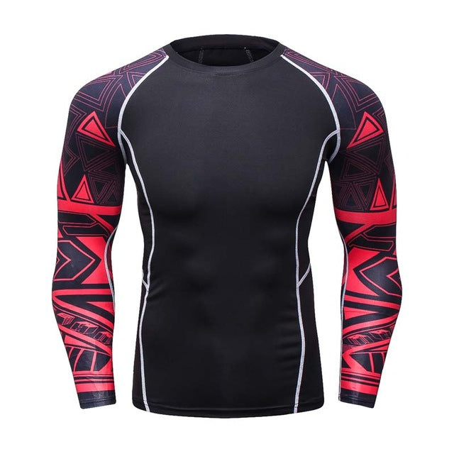 Mens Compression Base Layer Long Sleeve Jersey