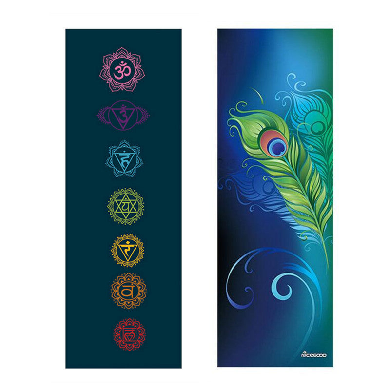 New Printed Yoga Towel - 185*68cm Non Slip Portable Fitness Pilates Gym Exercise Towel. Yoga Mat Towel. Yoga Mat Cover Soft Blanket