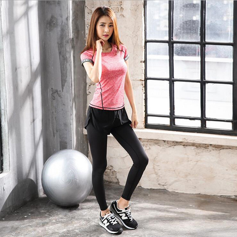 Sport T-shirt Quick Dry Breathable Running Short Sleeve Yoga Tops Fitness Shirts