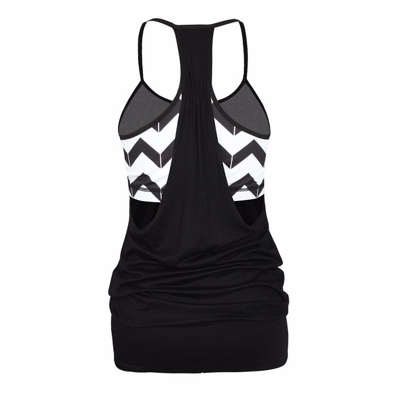 ZOOB MILEY Women Yoga Activewear Tank Tops With Cross Back Strap.