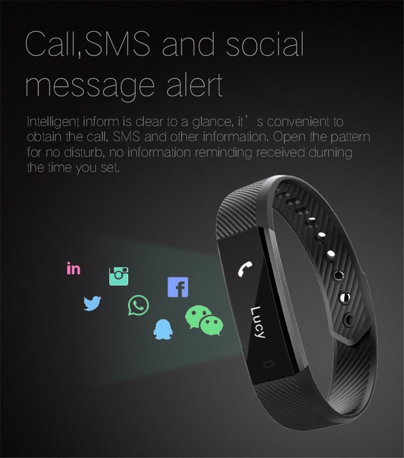 ID115 Smart Fitness Tracker Bracelet