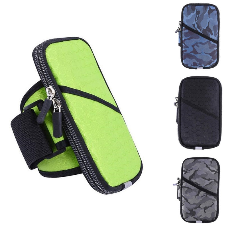 Universal Sports Armband Case - Zippered Fitness Running Arm Band Bag Pouch.