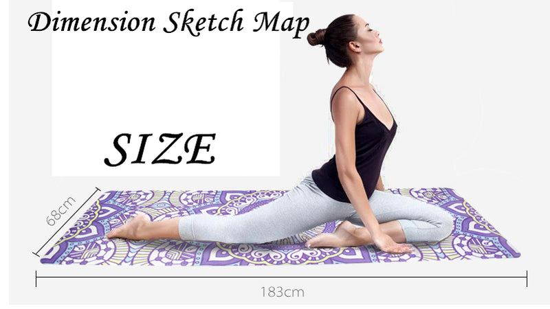 NEW 183*68cm 1.5mm Thickness 16 Styles Non-slip Ultrathin Deerskin Suede Rubber Yoga Mat Lose Weight Exercise Pilates Pad