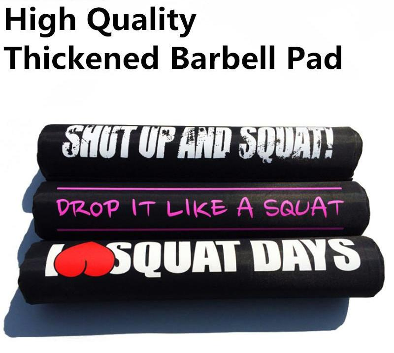 Barbell Pad with Inspirational Quotes