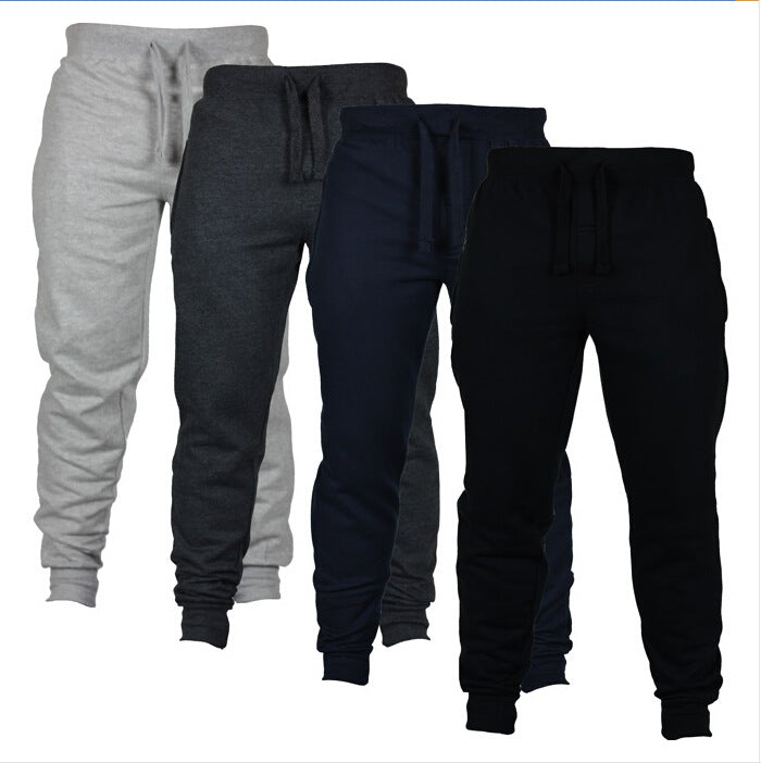 Mens Slim Fit Joggers Fitness Activewear Sports Fleece Sweatpants For Gym Training