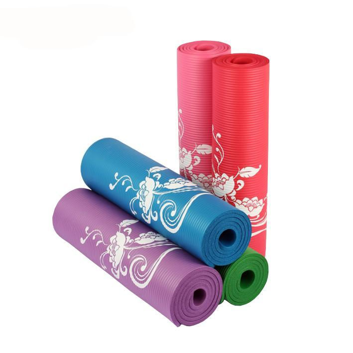 Hot Sale 183*61cm Thickness 10mm New Flowers Printed Yoga Mat