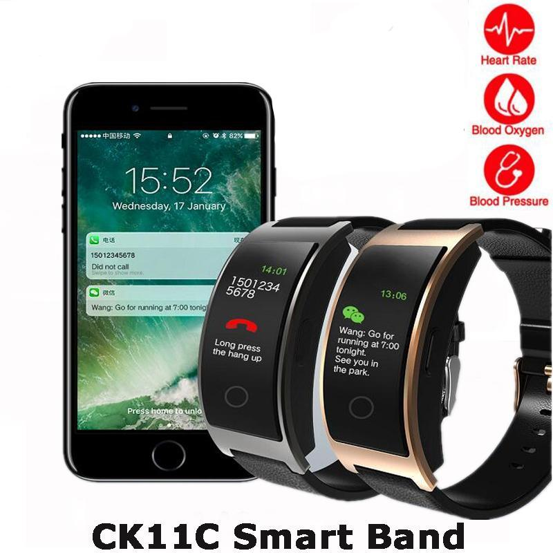 New CK11C Smart Band Colorful Screen Heart Rate Monitor Bracelet Blood Pressure Fitness Tracker Smart band