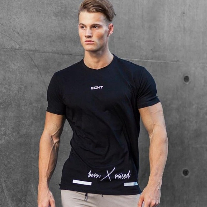 Mens Short Sleeved Cotton Tee