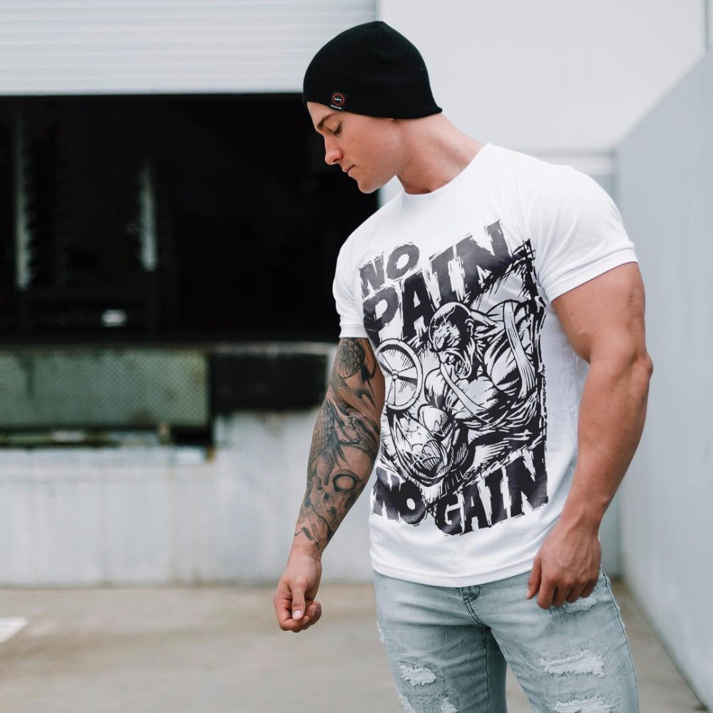 Mens Crossfit Workout Cotton Tee