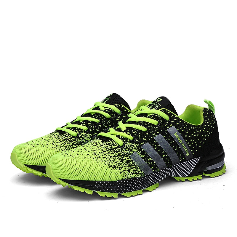 2018 Men Running Shoes Breathable Outdoor Sports Shoes Lightweight Sneakers for Women Comfortable Athletic Training Footwear