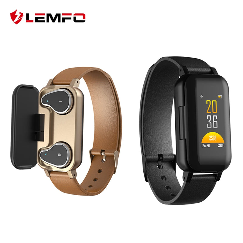 Fitness Tracker with Built-in Bluetooth Headphones