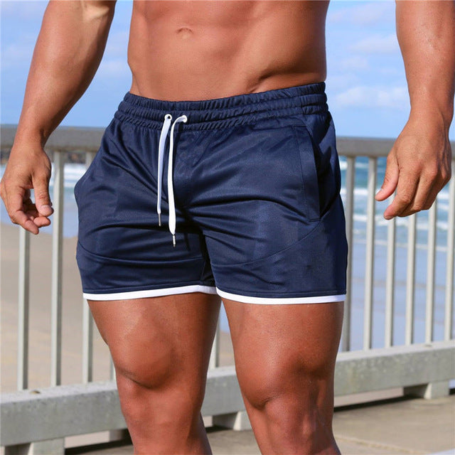 Mens Quick Drying Gym Jogger Shorts