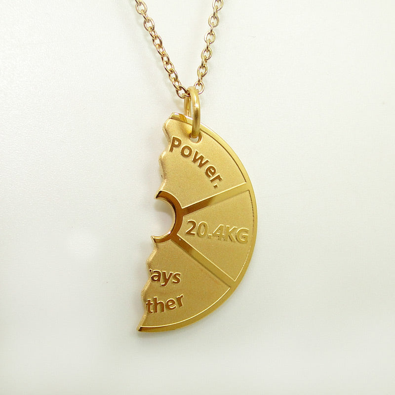 Plate BFF Pendant Necklace