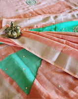 Linen saree with Sequence work