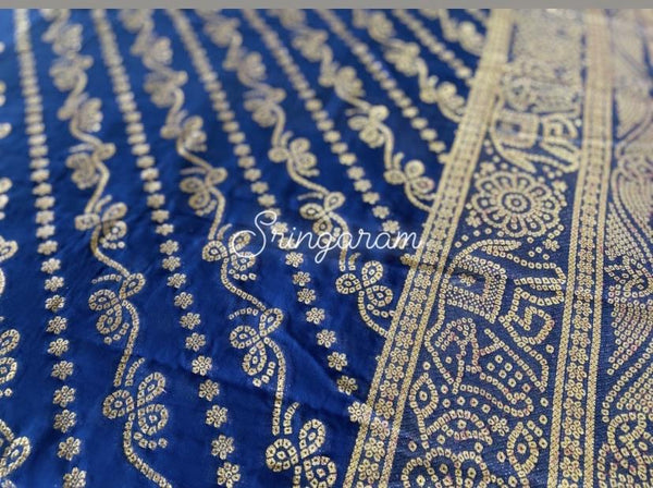 Pure Banarasi Georgette silk saree - Sringaram