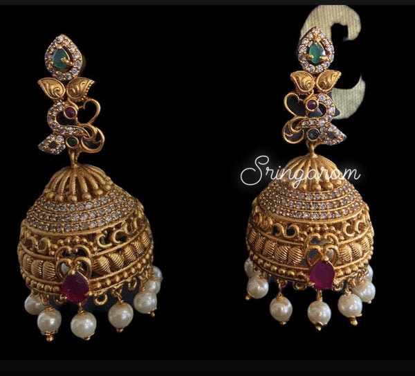 Antique jewellery Earrings - Sringaram
