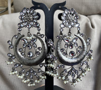 German Silver Earrings - Sringaram