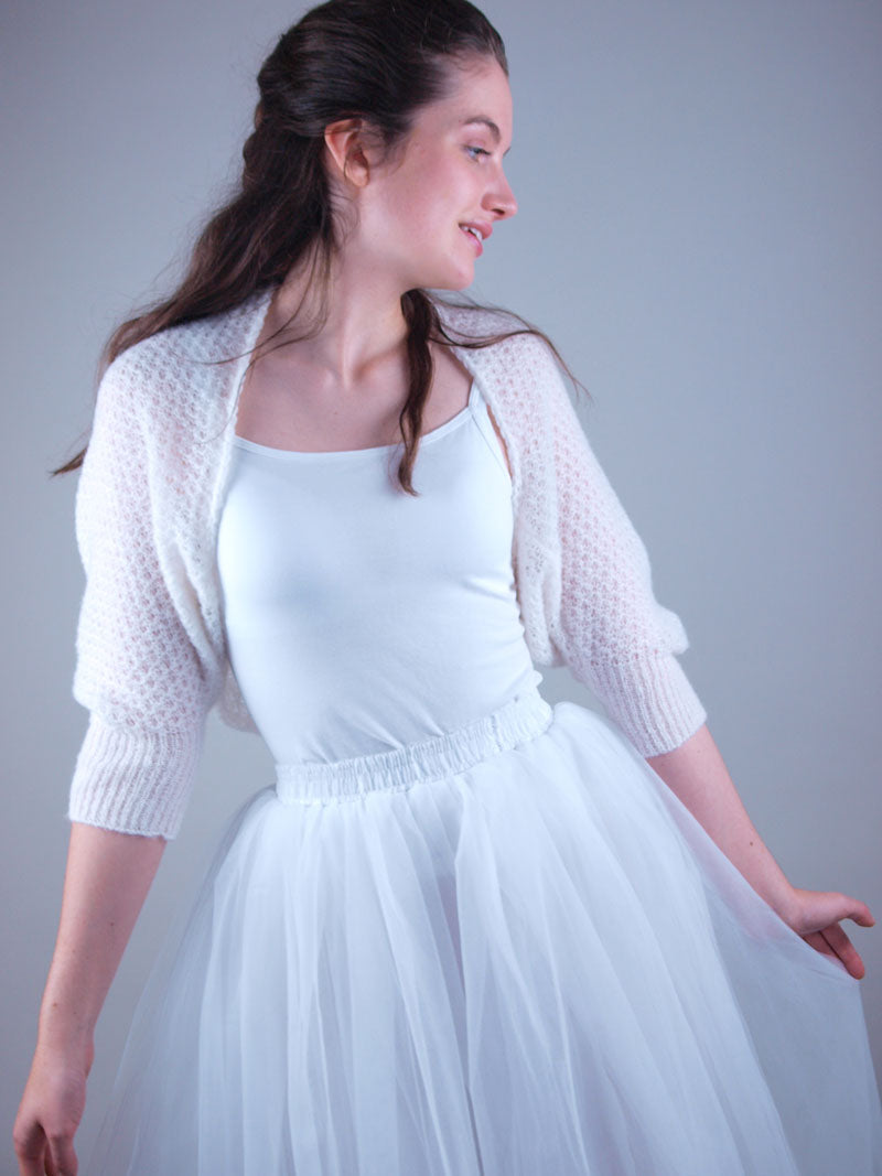 Bridal knit bolero lace ivory