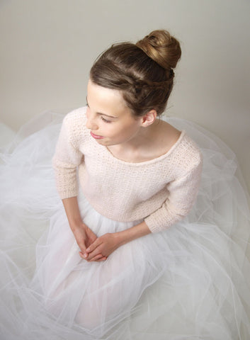 Bridal pullover and bolero knitted size chart