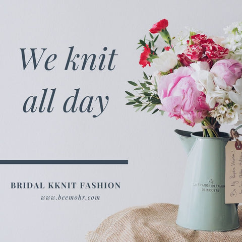 We love to knit for Brides in USA, CANADA, NewZeeland, Australia and England