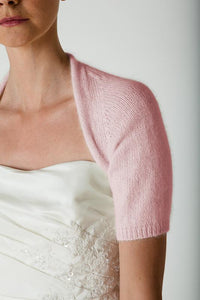 Bridal cardigan knitted with angora for your wedding dress