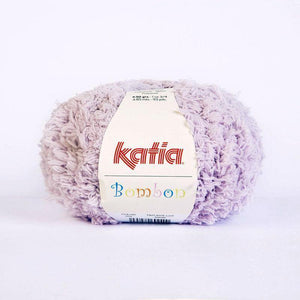 Bombon wool from katia white and mauve