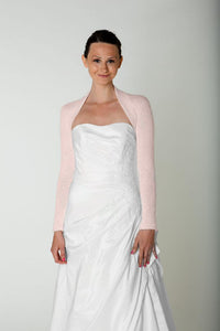 Bridal jacket knitted of angora wool