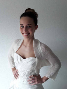 Wide knit jacket for bridal gowns