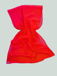 Lace Stole for Brides in red