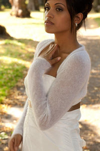Knit Couture: Wedding bolero knitted for your wedding ivory, blush, pale blue, gold, pale brown