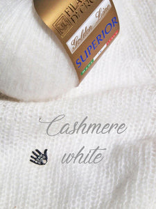 Wedding pullover made with cashmere silk for brides white