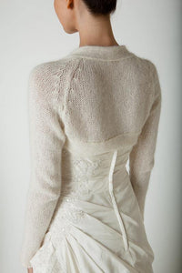 Wedding knit bolero for your wedding white and ivory