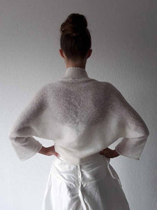 Wedding knit jacket loose SUGAR gentle bolero for your bridal dress with 3/4 sleeve