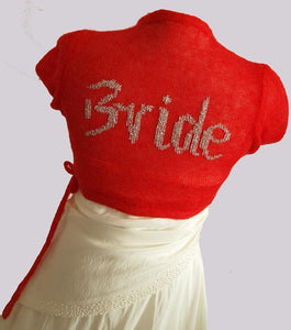 Wedding bolero jacket with your initials